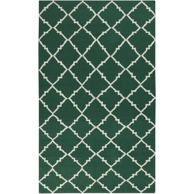 Atkins Deep Sea Green Area Rug Rug Size: Runner 26 x 8