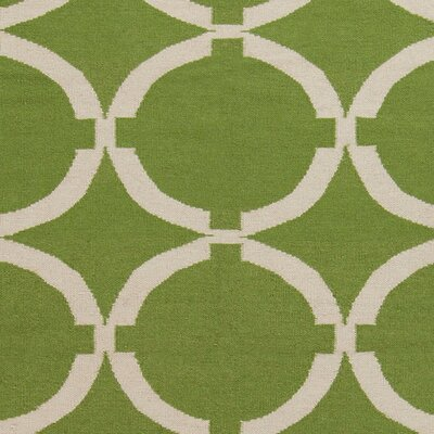Atkins Palm Green Geometric Area Rug