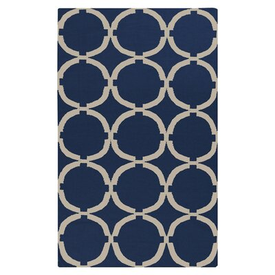 Atkins Midnight Blue Area Rug Rug Size: Rectangle 8 x 11