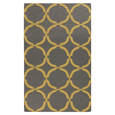 Atkins Dove Gray Area Rug Rug Size: Rectangle 36 x 56