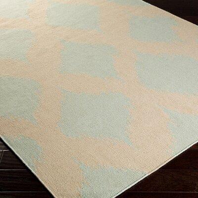 Atkins Pale Aqua Green/Ivory Geometric Area Rug Rug Size: Runner 26 x 8