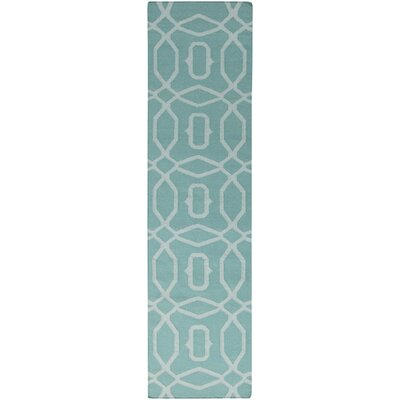 Atkins Robins Egg Blue Geometric Area Rug Rug Size: Runner 26 x 8