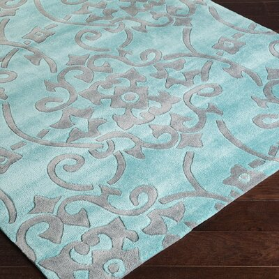 Windsor Slate Blue/Sea Blue Rug Rug Size: Rectangle 5 x 8