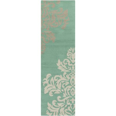 Schmitt Teal Indoor/Outdoor Rug Rug Size: Runner 26 x 8