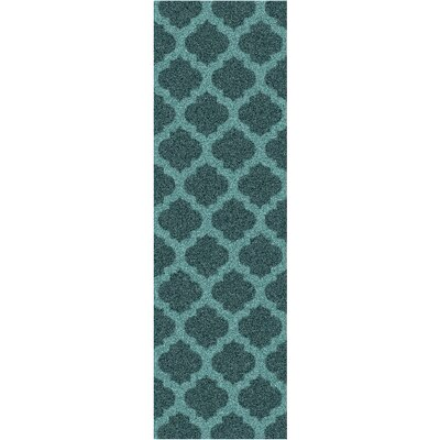 Windsor Teal Rug Rug Size: Runner 26 x 8