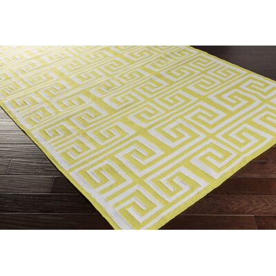 Larksville Lime/Ivory Indoor/Outdoor Area Rug Rug Size: Runner 2'6