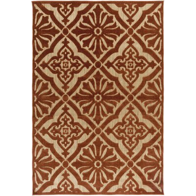 Carver Rust/Gold Indoor/Outdoor Area Rug Rug Size: Runner 2'6