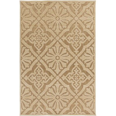 Carver Tan Indoor/Outdoor Area Rug Rug Size: 7'10