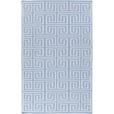 Larksville Light Blue Geometric Indoor/Outdoor Rug Rug Size: 36 x 56