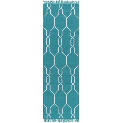Larksville Hand Woven Blue Indoor/Outdoor Area Rug Rug Size: Runner 2'6
