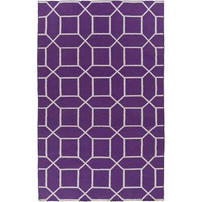 Larksville Violet Geometric Indoor/Outdoor Rug Rug Size: Runner 26 x 8