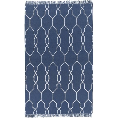 Larksville Navy/Ivory Area Rug Rug Size: Rectangle 36 x 56