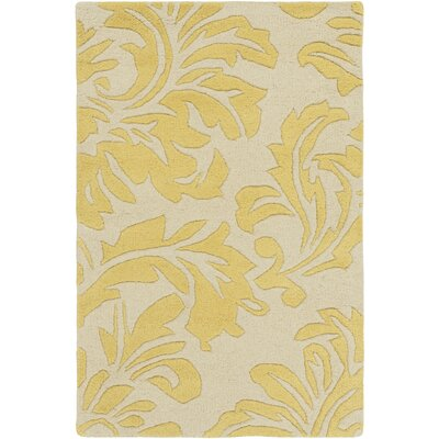 Millwood Hand-Tufted Cream/Wheat Area Rug Rug Size: 10 x 14