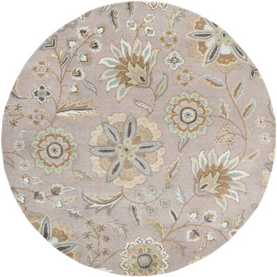 Millwood Hand-Tufted Tan Area Rug Rug size: Square 99