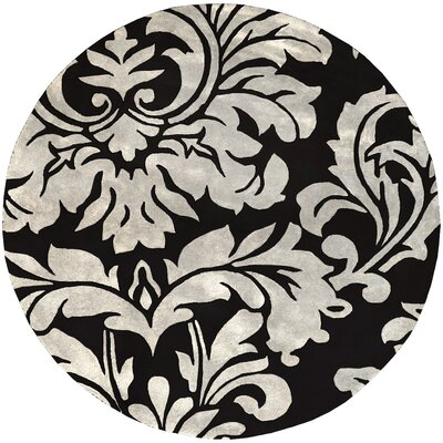 Millwood Hand-Tufted Black/White Area Rug Rug size: Rectangle 9 x 12
