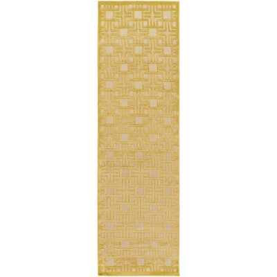 Carver Mustard/Khaki Indoor/Outdoor Area Rug Rug size: Runner 26 x 71