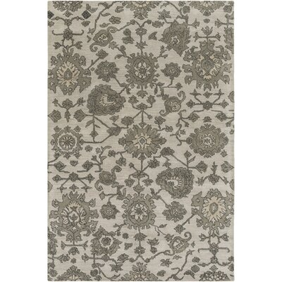 Yorktown Hand-Tufted Medium Gray Area Rug Rug size: 4 x 6