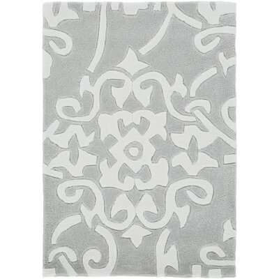 Windsor Hand-Tufted Medium Gray Area Rug Rug size: Round 8