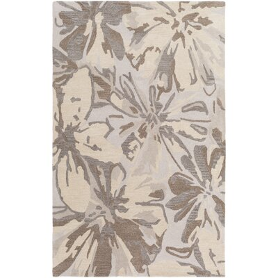 Millwood Hand-Tufted Beige Area Rug Rug size: Rectangle 76 x 96