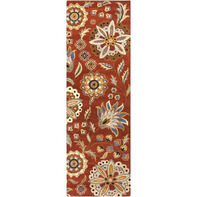Millwood Hand-Tufted Burnt Orange Area Rug Rug size: Runner 2'6