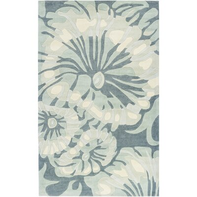 Windsor Hand-Tufted Sea Foam Area Rug Rug size: Rectangle 36 x 56