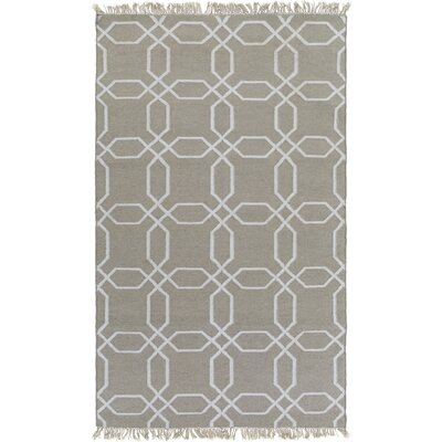 Larksville Hand-Woven Gray Outdoor Area Rug Rug Size: 8 x 11
