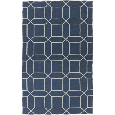 Larksville Hand-Woven Blue Outdoor Area Rug Rug Size: Rectangle 36 x 56