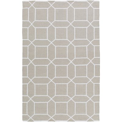 Larksville Hand-Woven Gray Outdoor Area Rug Rug Size: Rectangle 5 x 8