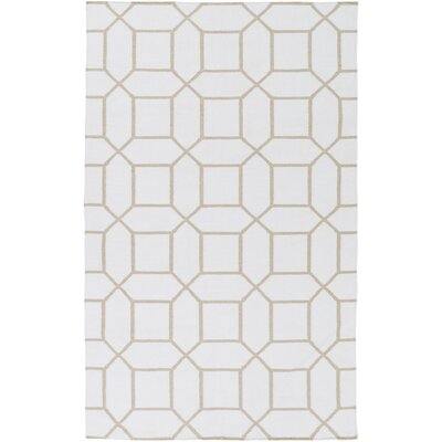 Larksville Hand-Woven Neutral Outdoor Area Rug Rug Size: 5 x 8