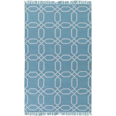 Larksville Hand-Woven Blue Outdoor Area Rug Rug Size: 3'6