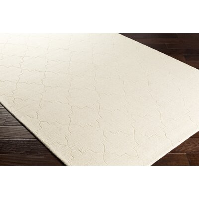 Swindell Hand-Loomed Neutral Area Rug Rug Size: Rectangle 5 x 76