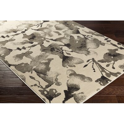 Falco Beige/Gray Area Rug Rug Size: Rectangle 53 x 76