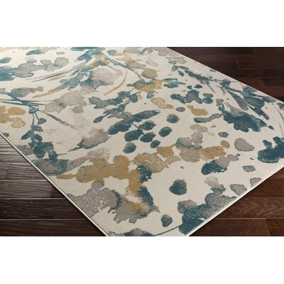 Falco Beige/Green Area Rug Rug Size: Rectangle 710 x 1010