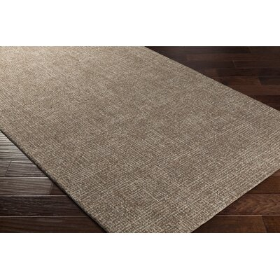 Darlington Hand-Tufted Brown Area Rug Rug Size: 5 x 76