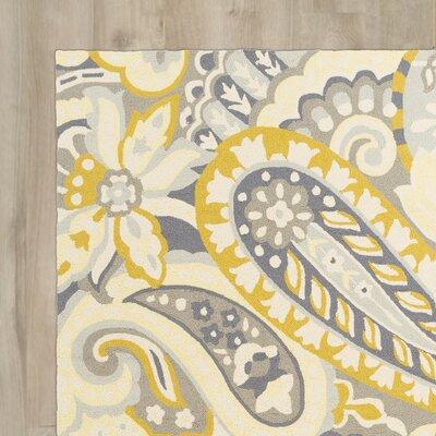 Schmitt Beige/Gold Indoor/Outdoor Area Rug Rug Size: 5 x 8