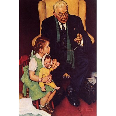 'Doctor and Doll' by Norman Rockwell Graphic Art on Wrapped Canvas