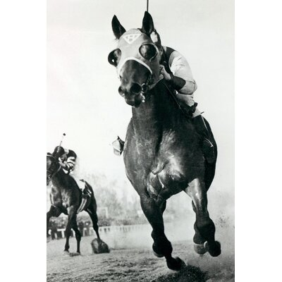 Seabiscuit Horse Racing #3 Photographic Print on Wrapped Canvas