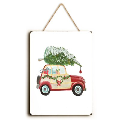 Christmas Tree on Car  Design Painting Print