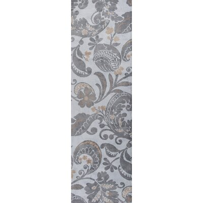 Linden Hand-Tufted Gray Area Rug Rug Size: Runner 23 x 76