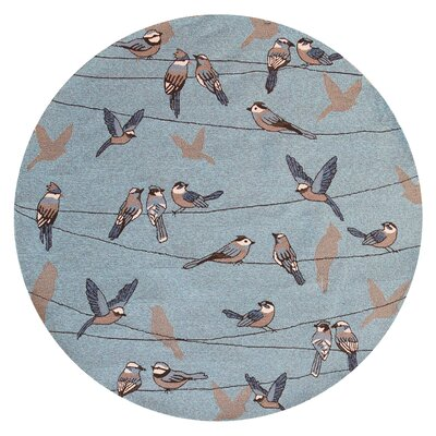 Edinburgh Handmade Blue Indoor/Outdoor Area Rug Rug Size: Round 76