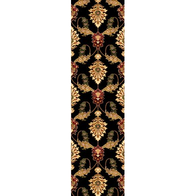 Greenfield Black Area Rug Rug Size: Runner 22 x 711