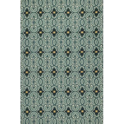 Edinburgh Handmade Teal Indoor/Outdoor Area Rug Rug Size: Round 76