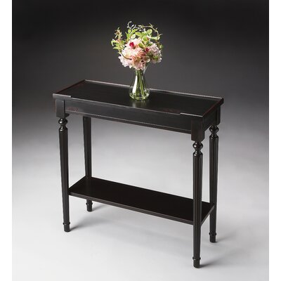 Tipton Console Table Finish: Distressed Plum Black