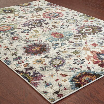 Gilman Oriental Gray Area Rug Rug Size: Rectangle 52 x 76