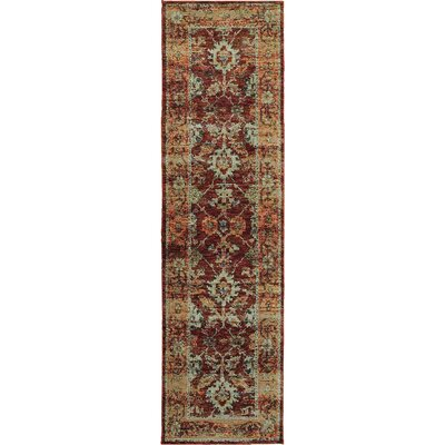 Gilman Red/Orange Area Rug Rug Size: 52 x 76