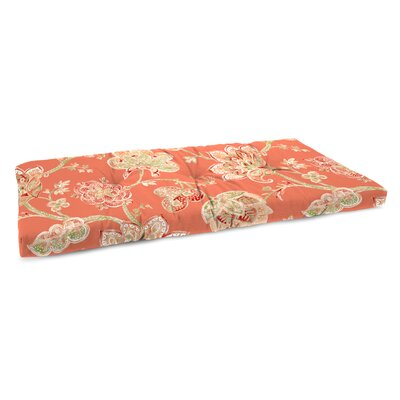 Indoor Bench Cushion Fabric: Jubilant Coral