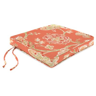 Indoor Chair Cushion Fabric: Jubilant Coral