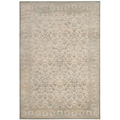 Orville Cream/Blue Area Rug Rug Size: Rectangle 27 x 4