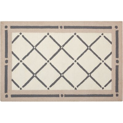 Northampton Hand-Woven Ivory/Gray Area Rug Rug Size: 26 x 310