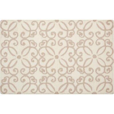 Northampton Hand-Woven Cream Area Rug Rug Size: 26 x 310